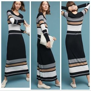 BNWT ANTHRO Bailey 44 Norwich Striped Maxi Dress